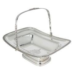 Sterling Silver George IV Bread Basket