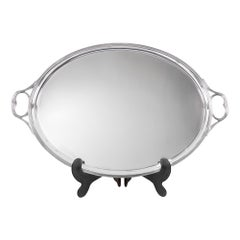 A Sterling Silver Oval Two Handled Tray