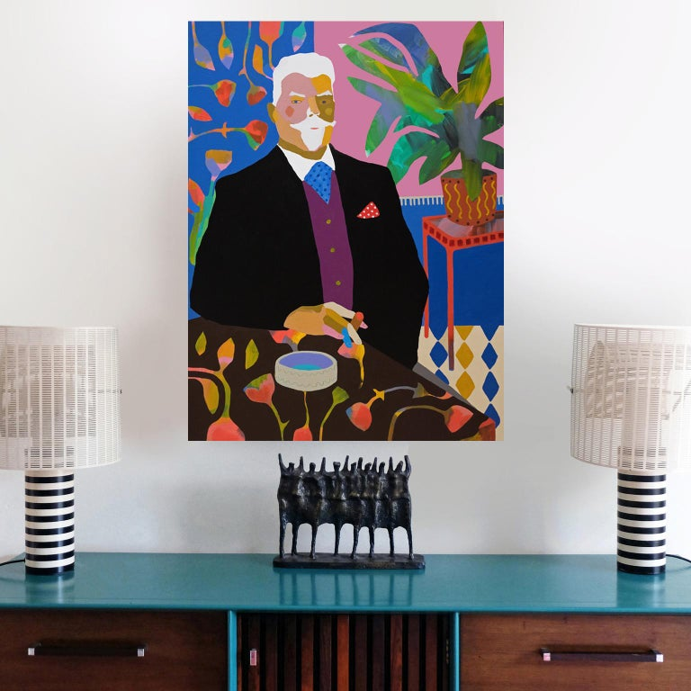 English 'A Still Life' Figurative Portrait Painting by Alan Fears Pop Art For Sale