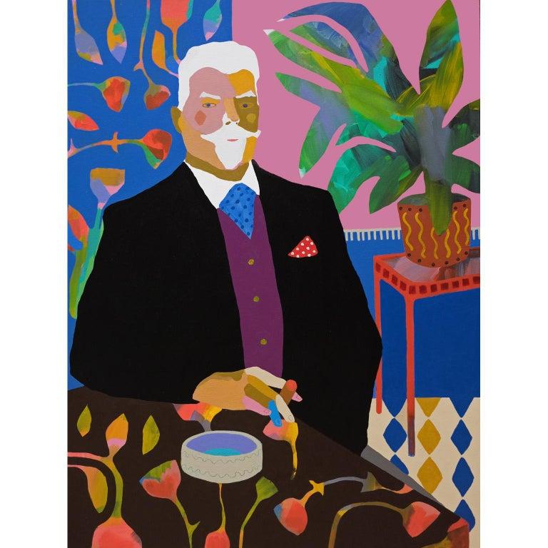 'A Still Life' Figurative Portrait Painting by Alan Fears Pop Art For Sale