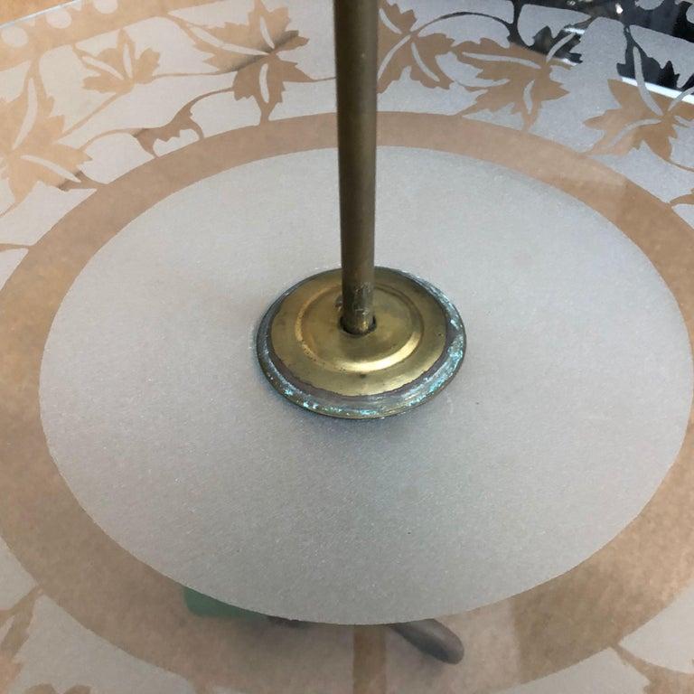 1950S Stilnovo Mid-Century Modern Brass and Glass Pendant For Sale 7