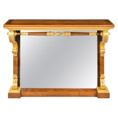 Striking George IV Amboyna, Rosewood and Gilt Console Table