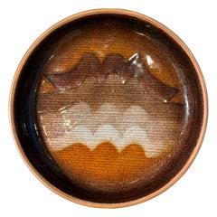 Studio Del Campo Copper Enameled Footed Dish, 1960s