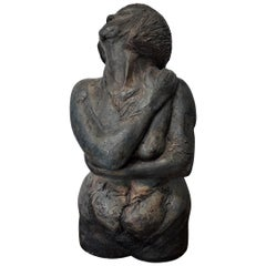 Studio Pottery Twisting Bust Figure by Signe Kolding