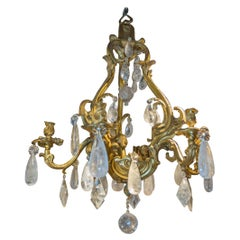 Stunning Large Louis XV Style Gilt-Bronze Six-Light Chandelier