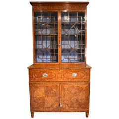 Stunning Late 18th Century Satinwood Secretaire Bookcase
