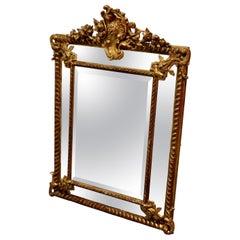 Stunning Napoleon III French Cushion Mirror