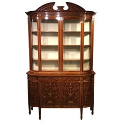 Stunning Quality Marquetry Inlaid Cabinet by Edwards & Roberts of London