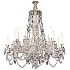 Superb 19th Century Russian All Handcut Crystal Chandelier with 18 Lights