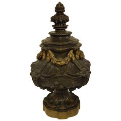 Superb Gilt and Patinated Bronze Newell Post