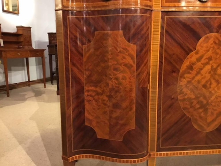 Superb Large Mahogany Edwardian Period Antique Display Cabinet by Maple & Co For Sale 2