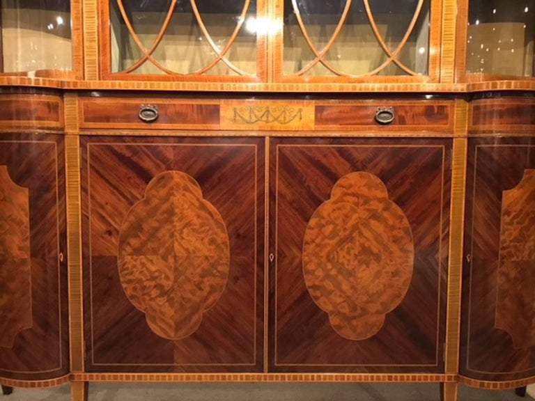 Superb Large Mahogany Edwardian Period Antique Display Cabinet by Maple & Co For Sale 5