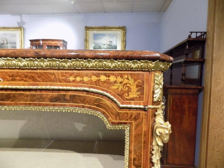 Superb Pair of Victorian Period Burr Walnut and Marquetry Inlaid Pier Cabinets For Sale 2