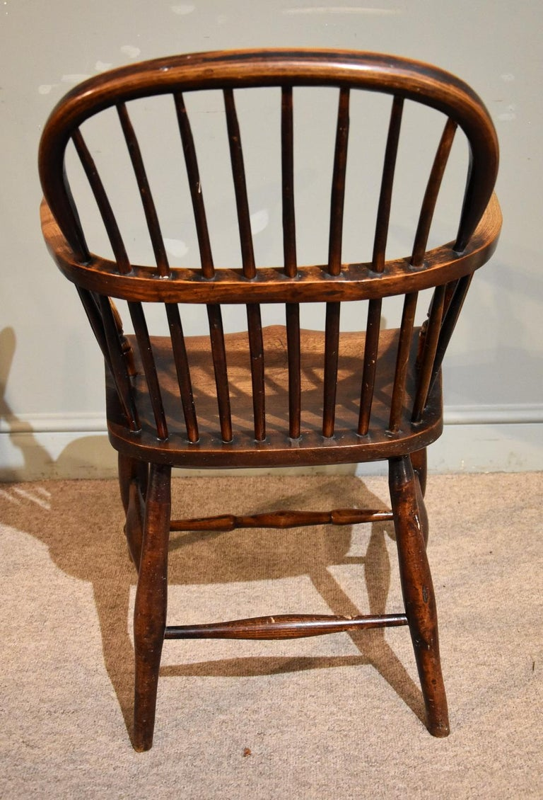 Early 19th Century A Superb Set of Four Ash and Elm Windsor Chairs For Sale