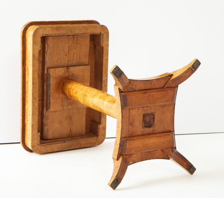 Swedish Birch Root Side Table, Mid-19th Century For Sale 6