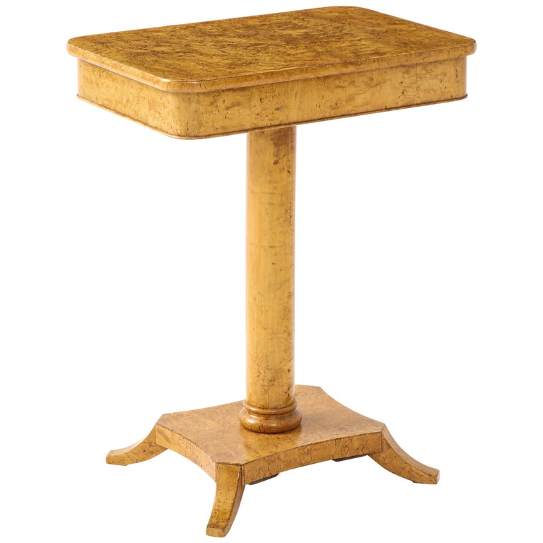Swedish Birch Root Side Table, Mid-19th Century For Sale