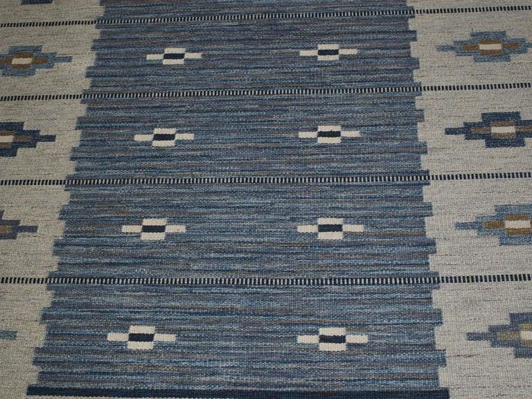 Swedish Flat-Weave Wool Carpet, circa 1950-1960 For Sale 4