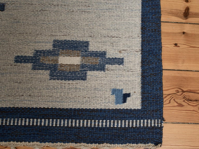 Swedish Flat-Weave Wool Carpet, circa 1950-1960 For Sale 5