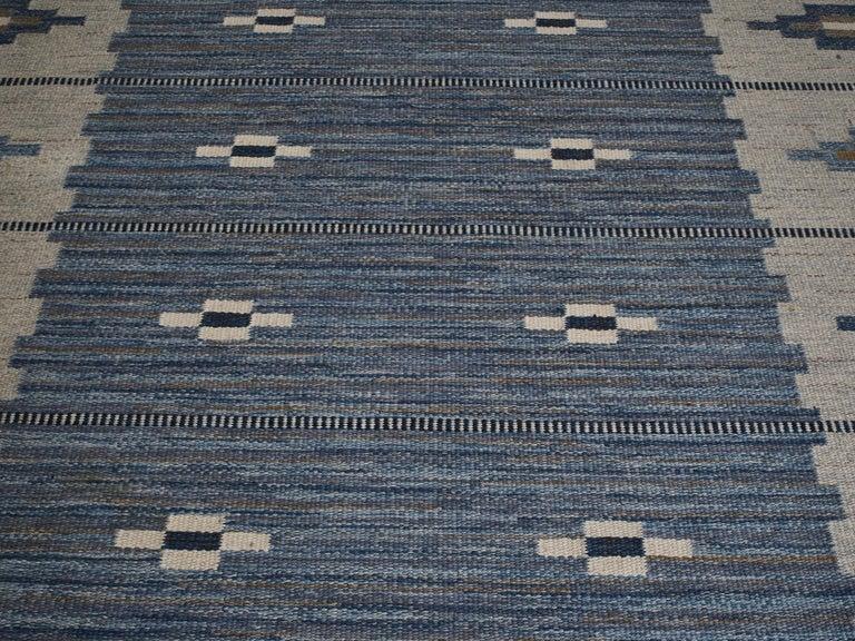 Swedish Flat-Weave Wool Carpet, circa 1950-1960 For Sale 6