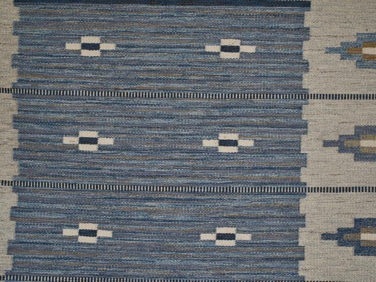 Scandinavian Modern Swedish Flat-Weave Wool Carpet, circa 1950-1960 For Sale