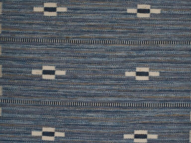 Woven Swedish Flat-Weave Wool Carpet, circa 1950-1960 For Sale