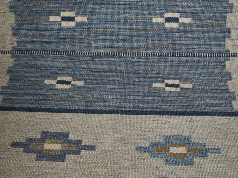 Swedish Flat-Weave Wool Carpet, circa 1950-1960 In Good Condition For Sale In New York, NY