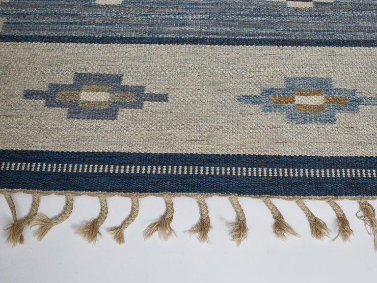 Mid-20th Century Swedish Flat-Weave Wool Carpet, circa 1950-1960 For Sale