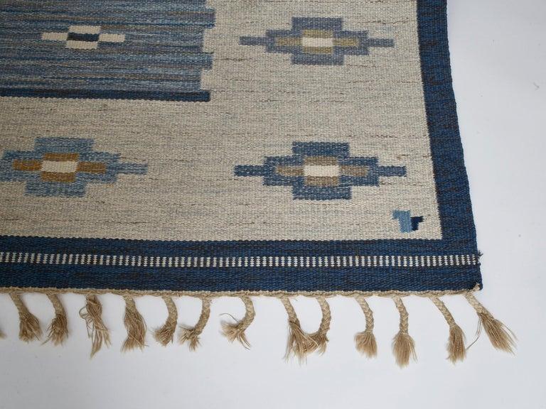 Swedish Flat-Weave Wool Carpet, circa 1950-1960 For Sale 1