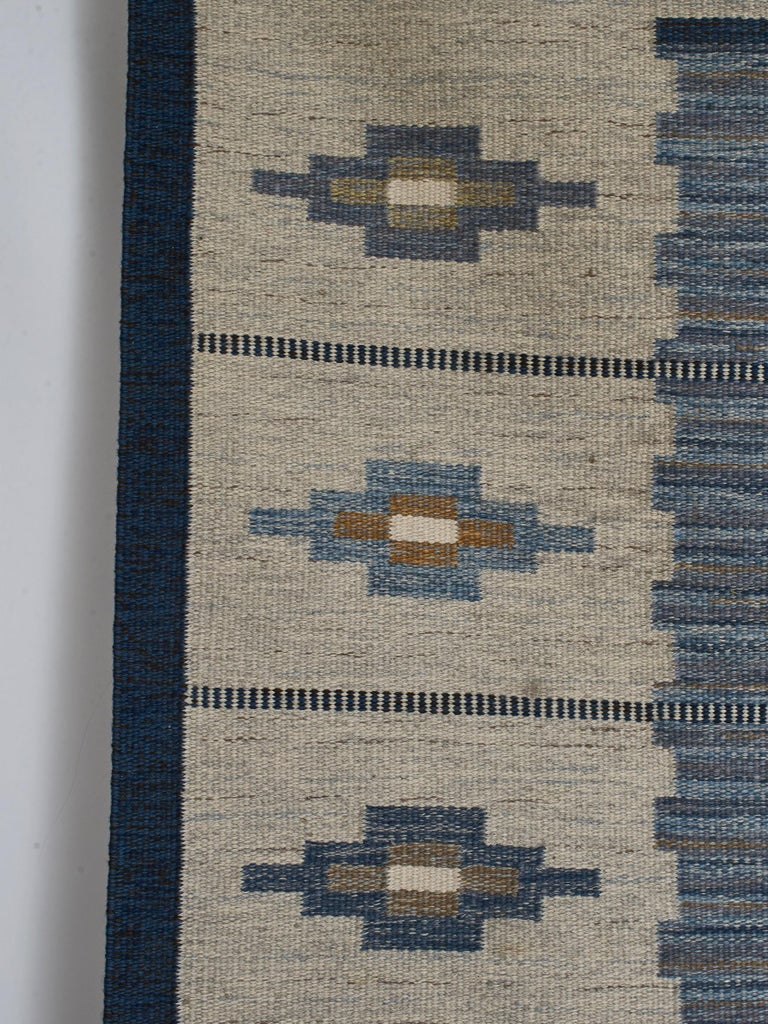 Swedish Flat-Weave Wool Carpet, circa 1950-1960 For Sale 2