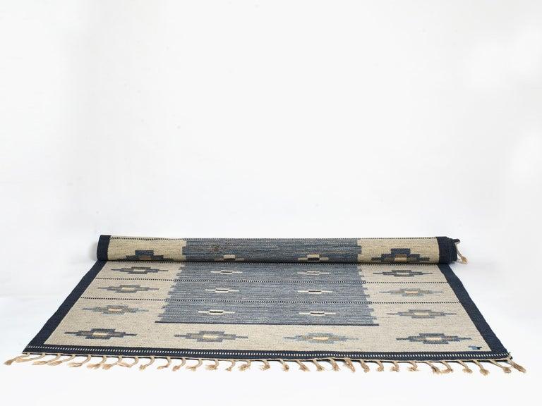 Swedish Flat-Weave Wool Carpet, circa 1950-1960 For Sale 3