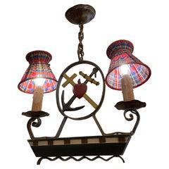 Swedish Folk Art Light Fixture