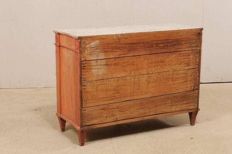 Swedish Gustavian Cabinet with Original Color, Turn of 18th-19th Century For Sale 5