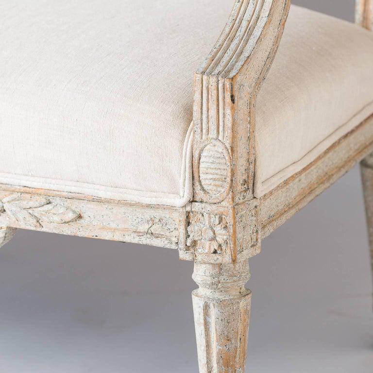 Swedish Gustavian Period Settee, circa 1780 For Sale 1
