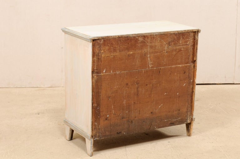 Swedish Gustavian Style Painted Wood Chest in Pale Blue Hues, Mid-20th Century For Sale 7