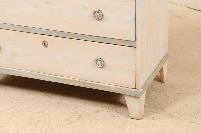 Swedish Gustavian Style Painted Wood Chest in Pale Blue Hues, Mid-20th Century For Sale 2