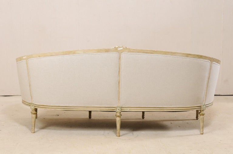 Swedish Late Gustavian Upholstered Tub Sofa from Mid-20th Century For Sale 4