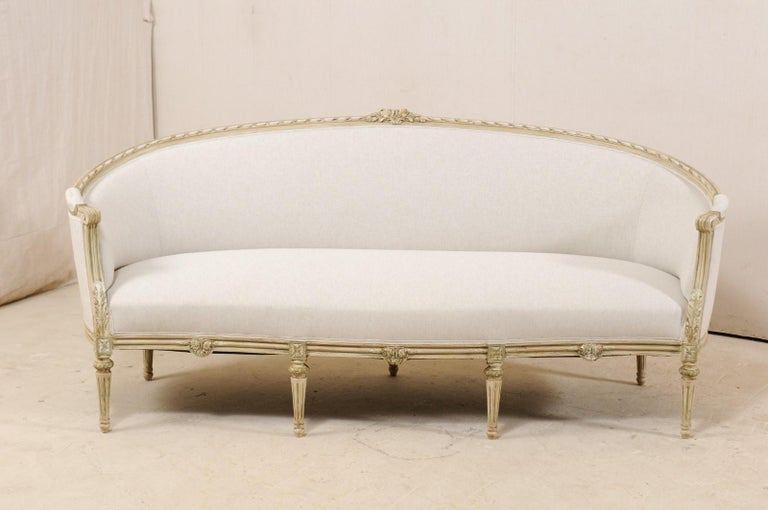 19th Century Swedish Late Gustavian Upholstered Tub Sofa from Mid-20th Century For Sale