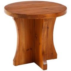 Swedish Modernist Solid Fir Side Table, circa 1930s