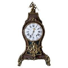 Swedish Rococo Table Clock Signed by Augustin Bourdillon