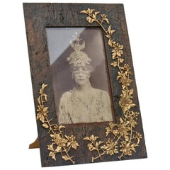 Symbolist Art Nouveau Picture Frame and Sarah Bernhardt Photo, circa 1900