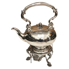 A T. Elkington & Co. Victorian Silver Plated English Kettle, circa 1870