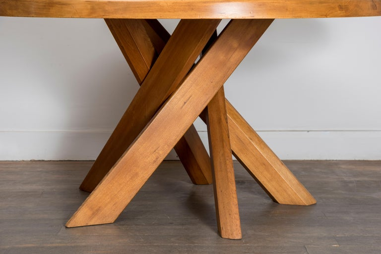 T21D Elmwood Dining Table by Pierre Chapo For Sale 1