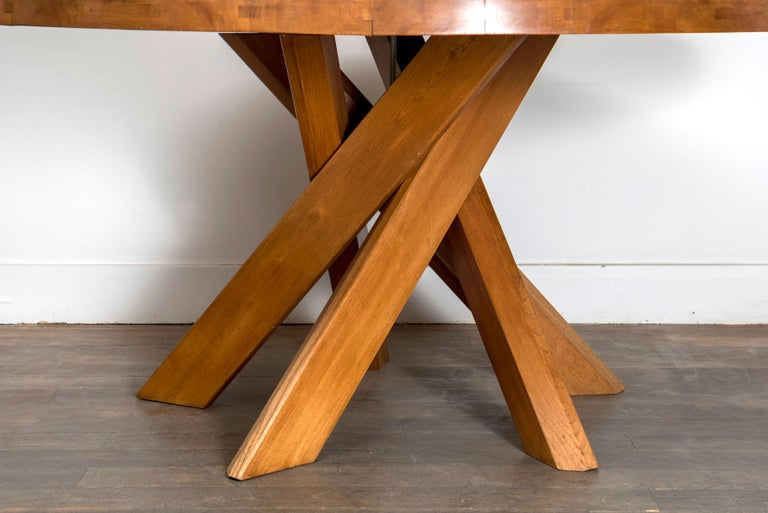 T21D Elmwood Dining Table by Pierre Chapo For Sale 2