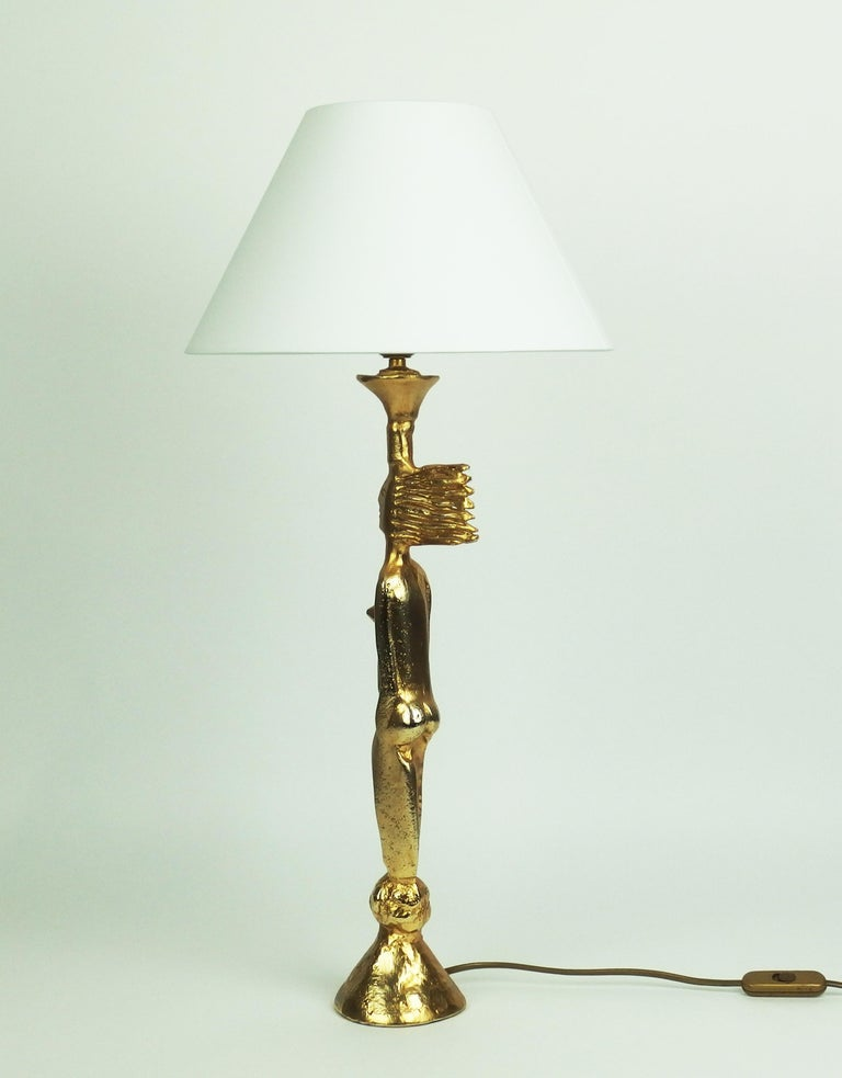 Mid-Century Modern Table Lamp by Pierre Casenove Edited by Fondica For Sale