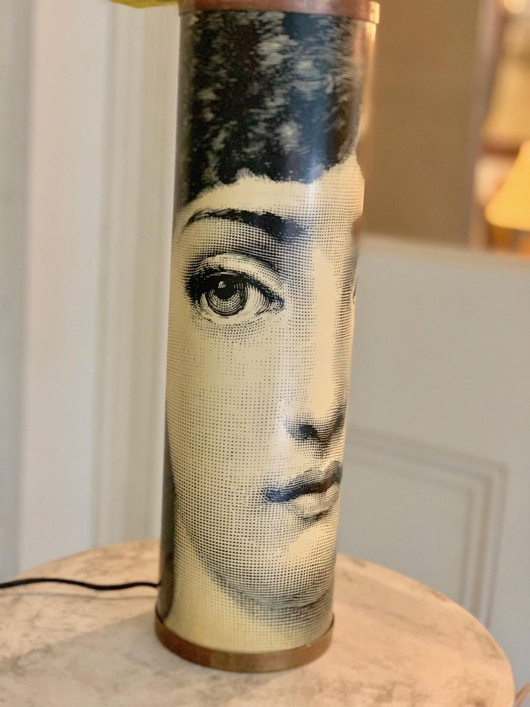 French Table Lamp Featuring Lina Cavalieri by Fornasetti For Sale