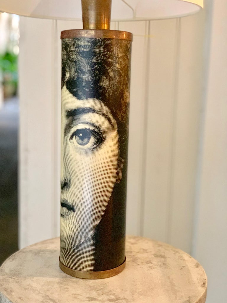 Table Lamp Featuring Lina Cavalieri by Fornasetti In Fair Condition For Sale In New Orleans, LA