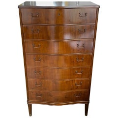 Tall Danish Seven Drawer Chest
