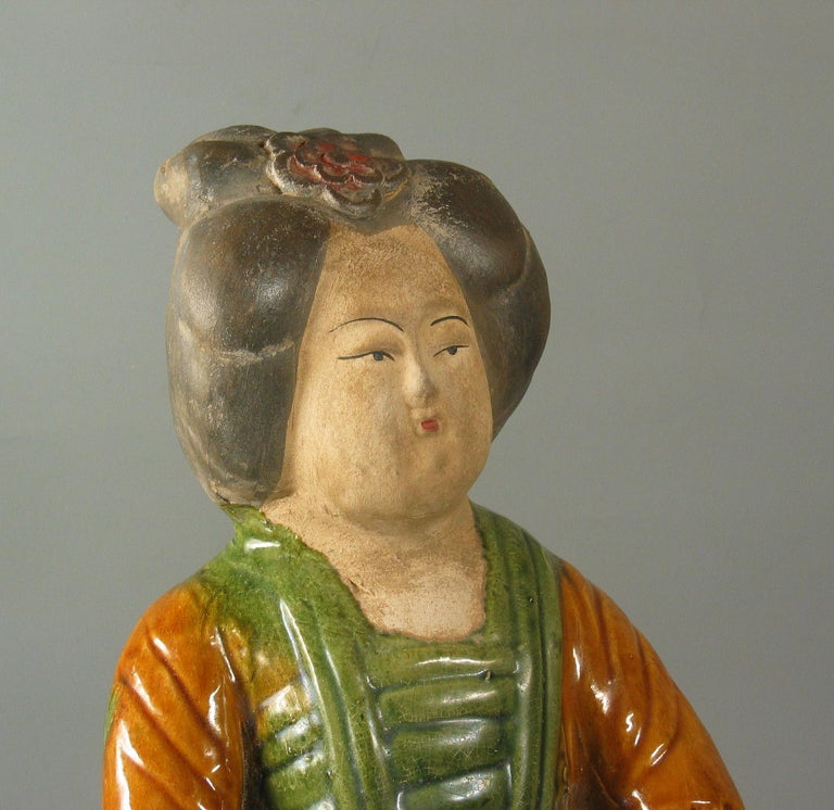 20th Century Tang Style Sancai-Glazed Figure of a Court Lady For Sale