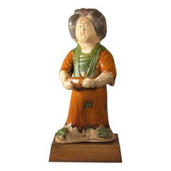 Tang Style Sancai-Glazed Figure of a Court Lady