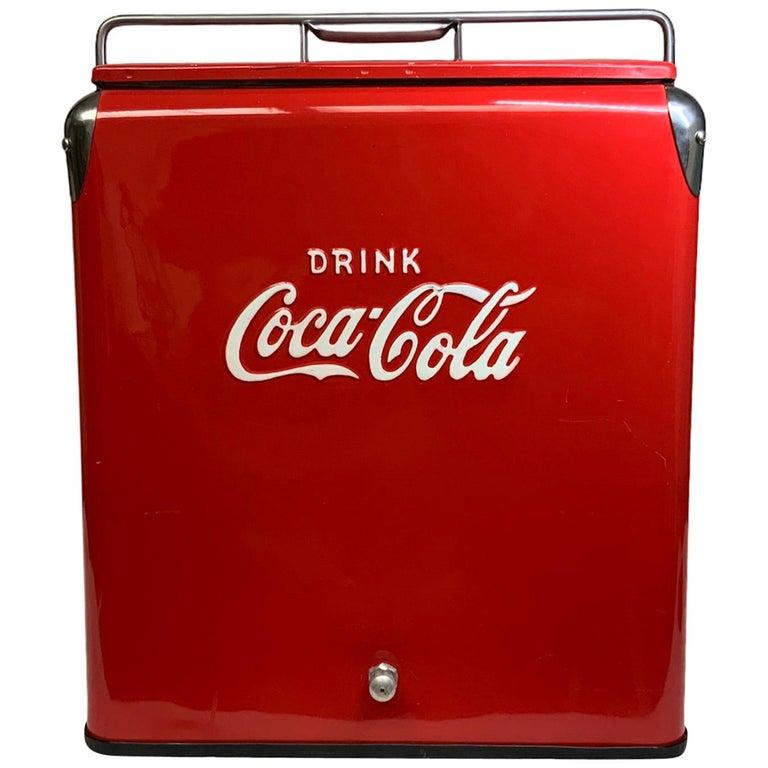 Temprite Coca Cola Large Cooler For Sale